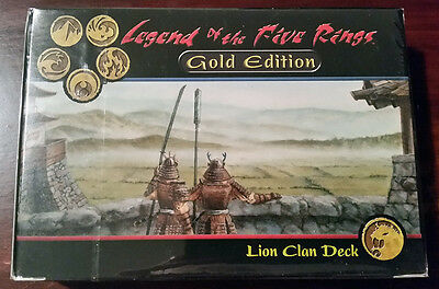 L5R legend of the five rings sealed GOLD edition starter deck LION clan