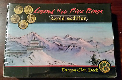 L5R legend of the five rings sealed GOLD edition starter deck DRAGON clan