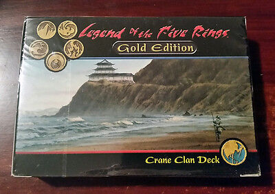 L5R legend of the five rings sealed GOLD edition starter deck CRANE clan