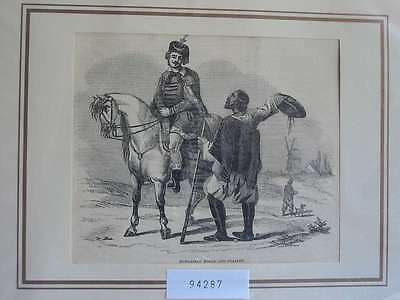 94287-Ungarn-Hungary-Magyar-Noble and Peasant-T Holzstich-Wood engraving