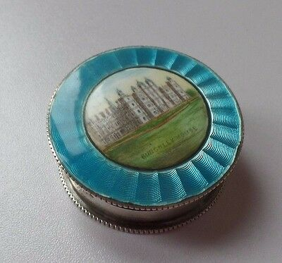 Beautiful Solid Silver & Enamel Pill Box Burghley House 1903 Marston & Bayliss