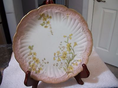 Antique Limoges Plate - Hand painted Daffodils 8 3/4""