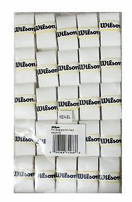 Wilson Pro Overgrip Player White (50 Pack) Tennis Grip New