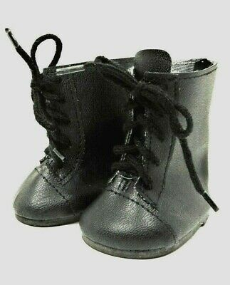 Black 1800 Style BOOTS Lace Up for American Girl Doll, 18 Inch Doll Shoes