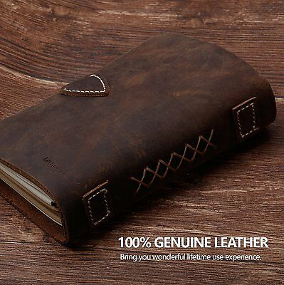 Leather Journal Refillable / Travelers Notebook / Writing Notebook - Lemome Hand