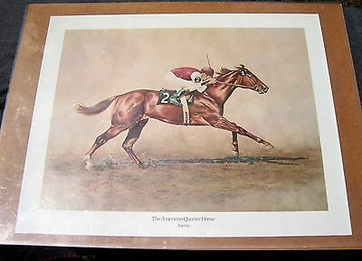 1970 American Quarter Horse Racing Print by Randy Steffen