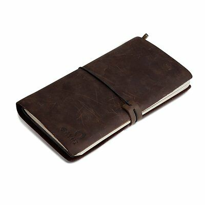 Vintage Leather Pocket Note travelers notebook Refillable Pages Journal, Perfect