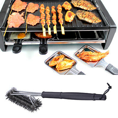 """New BBQ Grill Brush 18"""" Stainless Steel Barbecue Cleaning Tool Woven Wire"""