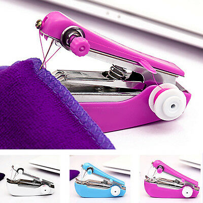 1X Useful Sewing Machine Portable Stitch Hand Held Handheld Electric Travel Tool