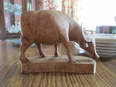 Hand-carved Wood Water Buffalo? Sculpture/Figurine