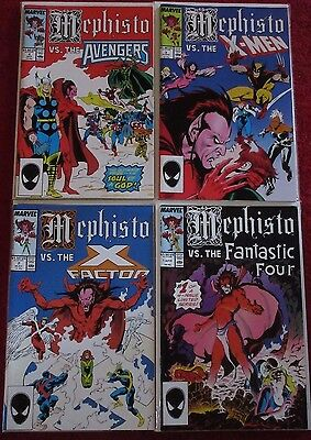 MEPHISTO vs. 1-4 (NM-) Full Set! AVENGERS! X-MEN! FANTASTIC FOUR! X-FACTOR! 1987