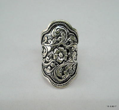 Traditional Design Sterling Silver Ring Big Cocktail Ring Handmade Jewellery