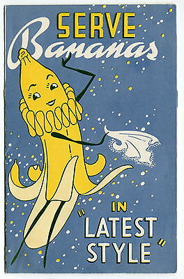 "1941 Brochure w/ ""PRETTY BANANA GIRL"" Advertising Character"