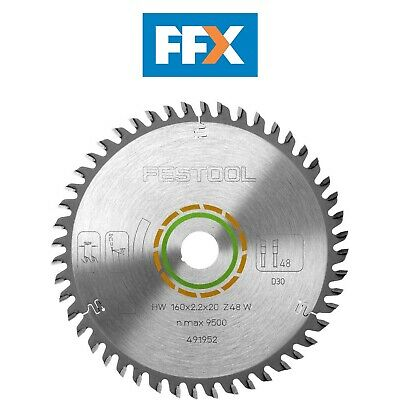 Festool 491952 Fine Tooth Cutting Saw Blade TS55 160mm x 20mm x 48T