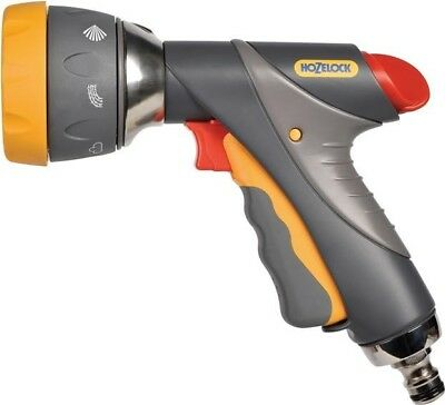 Hozelock Outdoor Watering Garden Hose Gun Multi Spray Pro Nozzle | Grey 2694