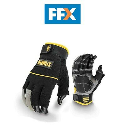 DeWalt DPG24L Fingerless Framers Gloves Black / Yellow