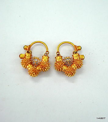 vintage antique 20kt gold earrings handmade traditional jewellery