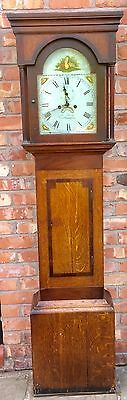 A Oak And Mahogany Cross Banded Grandfather Longcase Clock Jas Sharp Northampton