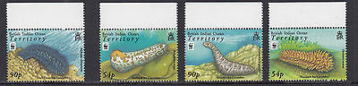 BRITISH INDIAN OCEAN TERRITORY :2008 Sea Cucumbers /WWF set  SG392-5 MNH