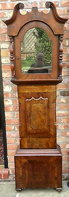 A Good Antique Mahogany Longcase Grandfather Clock Case  Rosewood Banded