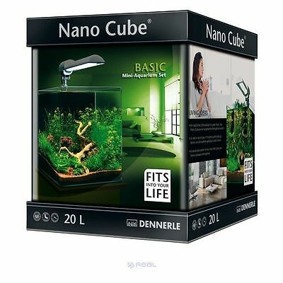 Dennerle NanoCube 20L Basic Aquarium Fish Tank + Filter & Light Complete Set