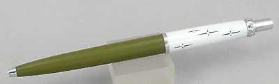 Parker Compact Lady Jotter Olive Green/White/Chrome - 1960's - Near Mint