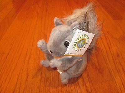 """* New *  Wildlife Artists Conservation Critters Gray Squirrel Plush 5 """" *"""