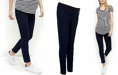 New Look Navy Maternity Pregnancy Skinny Jeans Denim Smart Trousers Size 8 - 20