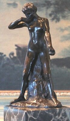 Nude Young Woman Female Elegant Bronze Marble  Statue Bookend Paperweight Gift
