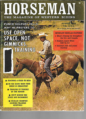 Horseman The Magazine  Of Western Riding August 1969 Equine Data & Stories