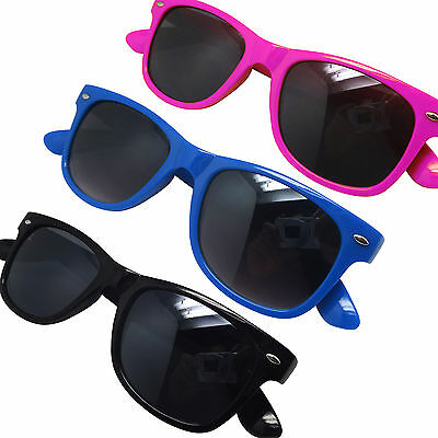 Childs Childrens Kids Wayfare Aviator Sunglasses Shades -  Pink Blue or Black