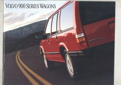 1994 Volvo 940 960 Wagon US Prestige Brochure my7266