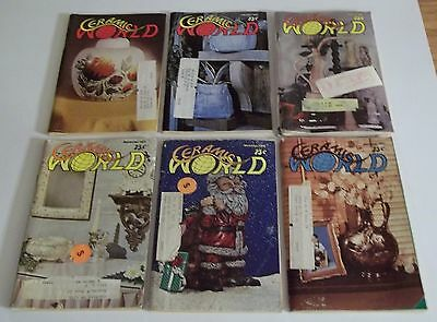 Lot of (6) 1977 CERAMIC WORLD Magazines (Combined Shipping Deal)