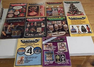 Lot of (10) 1975 CERAMICS The World's Most Fascinating Hobby MAGAZINES Ship Deal
