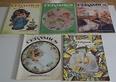 Lot of (5) 1976-1979 POPULAR CERAMICS Magazines (Combined Shipping Deal)