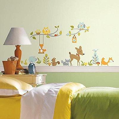 RoomMates RMK2768SCS Woodland Fox and Friends Peel and Stick Wall Decals New