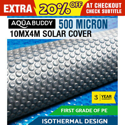 Solar Swimming Pool Cover 500 Micron Outdoor Bubble Blanket 10M X 4M 2 YR WRTY