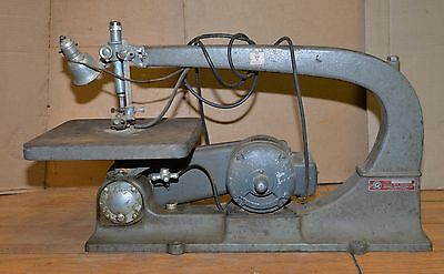 """Delta Rockwell 40-44C cast iron scroll saw 24"""" industrial heavy  vintage tool"""