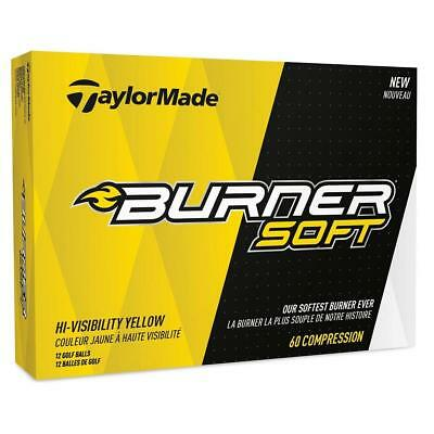 TaylorMade Golf 2017 Burner Soft Golf Balls 1 Dozen (Yellow)