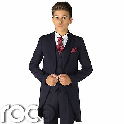 Boys Navy Tail Suit, Page Boy Suits, Boys Wedding suits, Boys Suits, Navy Suits