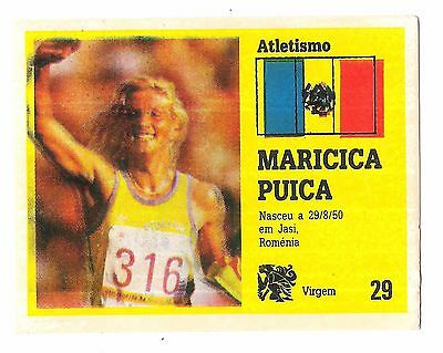 Vintage Portugese Golden Idols Sticker Olympics 3000m runner Maricica Puica