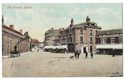 CALNE The Strand, Old Postcard by Valentine, Stamped but Unposted