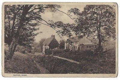 MERE Burton, near Warminster, Wiltshire, Old Postcard Unused