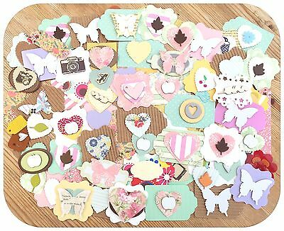 Handmade Craft Embellishments Toppers Clearout Card Making Scrapbooking Pack