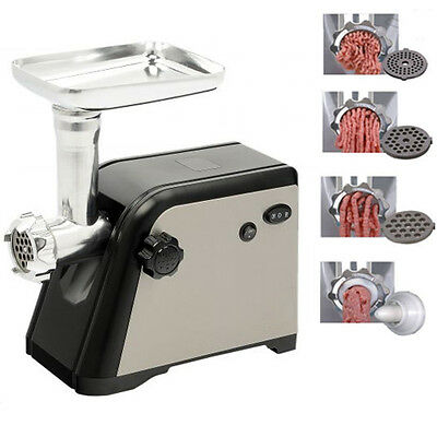 1600W Electric Meat Grinder Mincer Sausage Maker Machine Stainless Steel Black