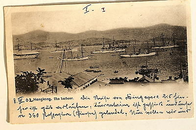 24672 PC Postcard HONG KONG The harbour ships 1902