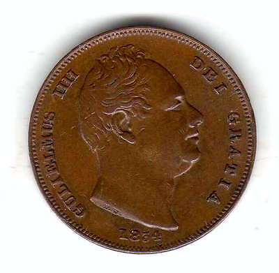 gb farthing 1834, high grade