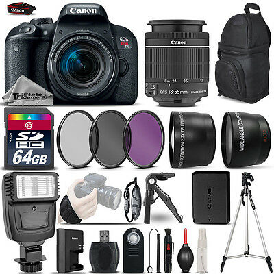 Canon EOS Rebel T7i DSLR Camera 800D + 18-55mm IS STM - Ultimate Saving Bundle