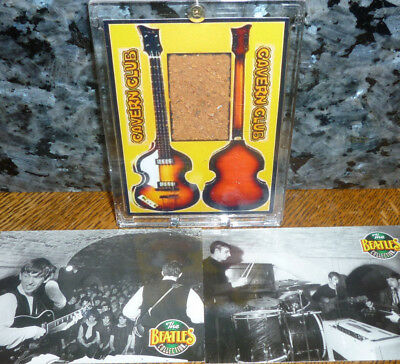 *<* OUR LOWEST PRICE! BEATLES ACTUAL LIVERPOOL CAVERN CLUB BRICK FRAGMENT w/COA!
