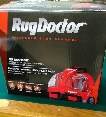 Rug Doctor Portable Spot Cleaner Machine, Red - Corded 2X Suction NEW!